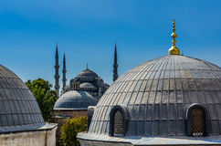 Top view on Aya Sofia Temple in Istanbul. Turkey royalty free stock photography