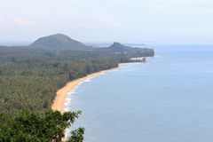 Top view of Baan grood beach in Thailand. Top view of Baan grood long beach in Thailand Royalty Free Stock Image