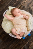 Top view of baby boy. Royalty Free Stock Photos