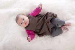 Top view of baby girl Stock Images