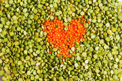Top view background in love with healthy eating Royalty Free Stock Images