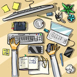 Top view background - office Royalty Free Stock Images