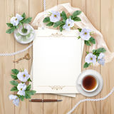 Top View Background with White Flowers Royalty Free Stock Photo