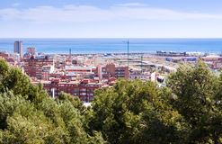 Top view of  Badalona Stock Image