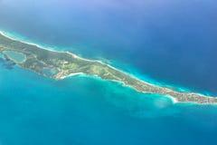 Top View of Bahamas, Paradise Beach. Top View of Bahamas, Caribbean, Paradise Beach stock images