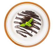 Top view of bakery with chocolate sauce Stock Images
