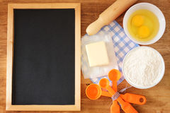 Top view of baking ingredients Royalty Free Stock Photos