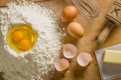 Top view of Baking Ingredients. Topview of some Baking Ingredients Royalty Free Stock Photography