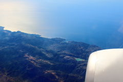 Top view Balearic Islands Stock Photography