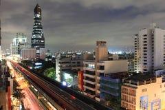Top view bangkkok. Thailand travel traffic jam royalty free stock image