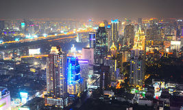 Top view of Bangkok Royalty Free Stock Images