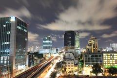 Top view in bangkok thailand. Traffic jam in bangkok thailand royalty free stock images