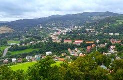 Top view on Banska Stiavnica (Slovakia) Stock Photography