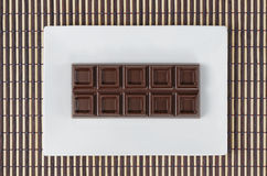 Top view of bar chocolate Stock Photos