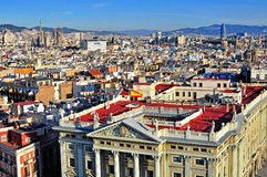 Top view of Barcelona city centre Stock Images