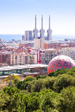 Top view of  Barcelona, Spain Stock Photos