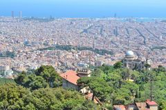Top-view of Barcelona stock photography
