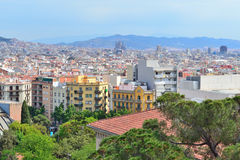 Top-view of Barcelona Royalty Free Stock Photos