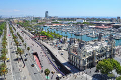 Top-view of Barcelona Royalty Free Stock Images