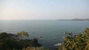 Top view of the bay of the Arabian Sea in India stock footage