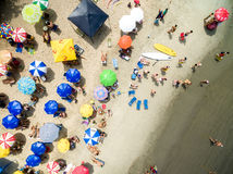 Top view of beach in Brazil stock photo