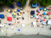 Top view of beach in Brazil royalty free stock images