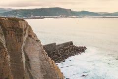 Atlantic ocean in Bilbao Royalty Free Stock Photos