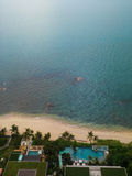 Top view beach pattaya thailand Royalty Free Stock Photography