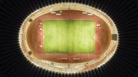 Football field of Gelora Bung Karno stadium. Top view of beautiful football field of Gelora Bung Karno stadium in Jakarta, Indonesia Stock Photos