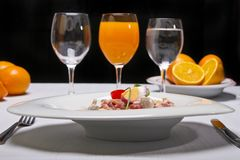 Gourmet dish Royalty Free Stock Images