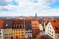 Top view from beautiful Kaiserburg, Nuremberg Stock Photography