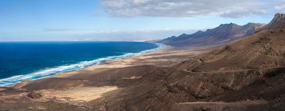 Free Top View Beautiful Panorama Seascape Of Fuerteventura Island Stock Photo - 123959710