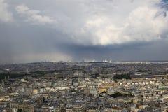 Top view of a beautiful Parisian neighborhoods stock photos