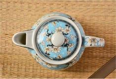 Top view of beautiful tea pot Stock Images