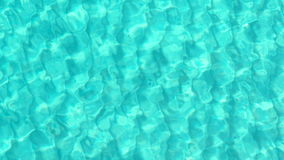 Top view of beautiful turquoise ripple on the sea surface and seabed via crystal clear blue water. Top view of beautiful turquoise ripple on the sea surface and stock footage