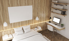 Top view of bedroom Royalty Free Stock Photo
