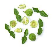 Top view of Bergamot fruit isolated on the white background.  royalty free stock photos
