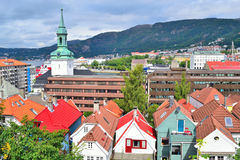 Top-view of Bergen, Norway Stock Images