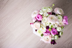Top view of big bouquet of summer flowers Stock Photography
