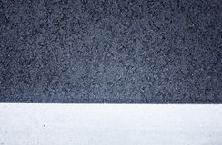 Top view of black asphalt road texture with white color line. Background concept ideas Royalty Free Stock Photo