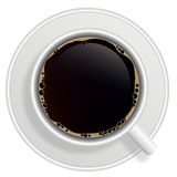 Top view of black coffee cup  Royalty Free Stock Image