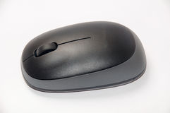 Top view of black and grey wireless mouse Stock Image