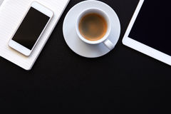 Top view of black table Royalty Free Stock Photo