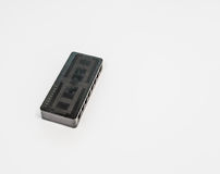 Top view of black wireless router Stock Image