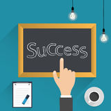 Top view of blackboard Royalty Free Stock Images