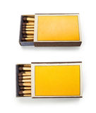 Top view of blank matches box isolated on white. Photo take on 2017 Stock Images