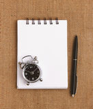 Top view of blank notepad Royalty Free Stock Images