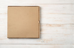 Top view of blank pizza box Stock Images