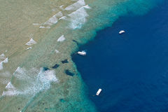 Top View of Blue holes. Republic of Palau Stock Images