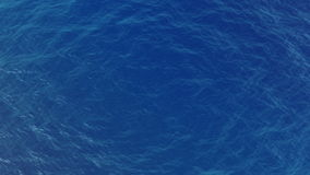 Top view of a blue water waves stock video footage
